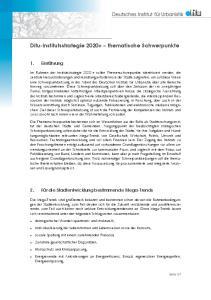 Difu-Institutsstrategie thematische Schwerpunkte