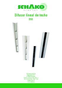 Difusor lineal de techo DSC