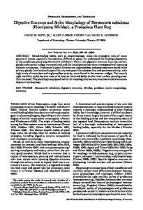 Digestive Enzymes and Stylet Morphology of Deraeocoris nebulosus (Hemiptera: Miridae), a Predacious Plant Bug
