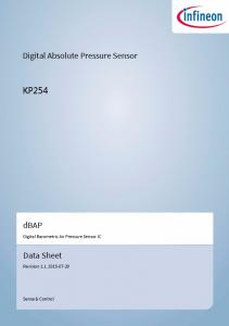 Digital Absolute Pressure Sensor KP254. dbap. Data Sheet. Digital Barometric Air Pressure Sensor IC. Revision 1.1,