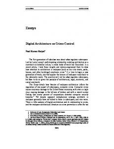 Digital Architecture as Crime Control