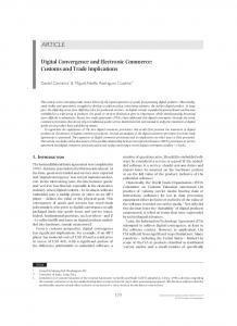 Digital Convergence and Electronic Commerce: Customs and Trade Implications