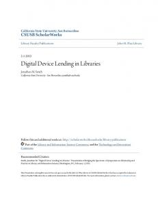 Digital Device Lending in Libraries