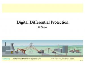 Digital Differential Protection
