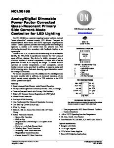 Digital Dimmable Power Factor Corrected Quasi-Resonant Primary Side Current-Mode Controller for LED Lighting