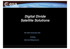 Digital Divide Satellite Solutions