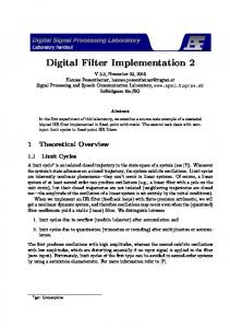 Digital Filter Implementation 2