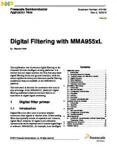 Digital Filtering with MMA955xL