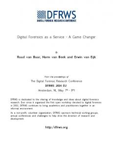 Digital Forensics as a Service - A Game Changer