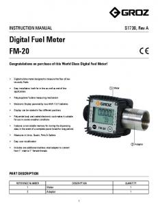 Digital Fuel Meter FM-20