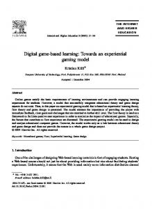Digital game-based learning: Towards an experiential gaming model