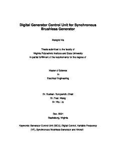 Digital Generator Control Unit for Synchronous Brushless Generator