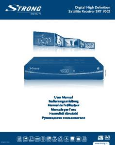 Digital High Definition Satellite Receiver SRT 7002