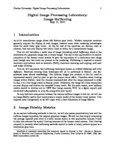 Digital Image Processing Laboratory: Image Halftoning