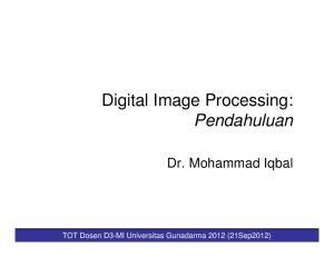 Digital Image Processing: Pendahuluan