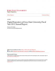 Digital Iowa State University, Fiscal Year 2015 Annual Report