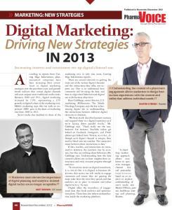 Digital Marketing: Driving New Strategies