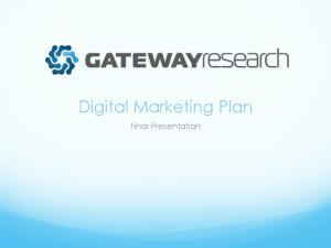 Digital Marketing Plan. Final Presentation