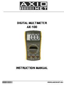 DIGITAL MULTIMETER AX-100