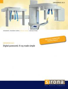 Digital panoramic X-ray made simple