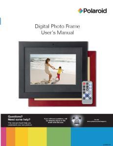 Digital Photo Frame. User s Manual. User s Manual
