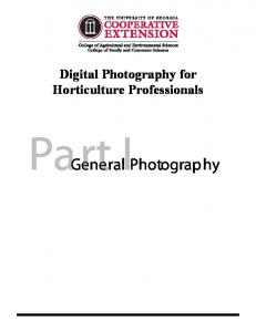 Digital Photography for Horticulture Professionals. Part I. General Photography