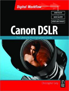 Digital Photography Workflow. Canon DSLR