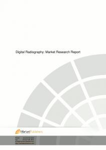 Digital Radiography: Market Research Report