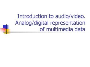 digital representation of multimedia data