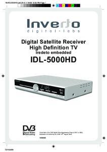 Digital Satellite Receiver High Definition TV Iredeto embedded IDL-5000HD