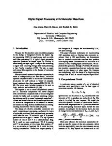 Digital Signal Processing with Molecular Reactions