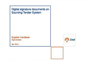Digital signature documents on Sourcing Tender System