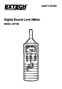 Digital Sound Level Meter MODEL