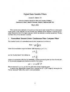 Digital State-Variable Filters