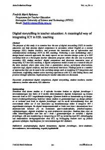Digital storytelling in teacher education: A meaningful way of integrating ICT in ESL teaching