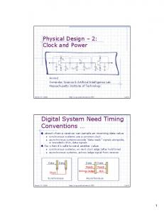 Digital System Need Timing Conventions