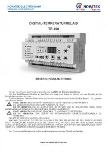 DIGITAL-TEMPERATURRELAIS TR-100