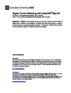 Digital Terrain Modeling with AutoCAD Map 3D