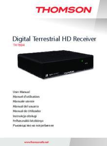 Digital Terrestrial HD Receiver