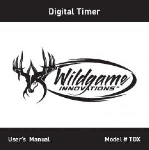 Digital Timer User s Manual Model # TDX