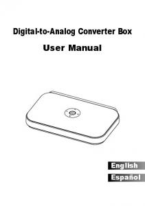 Digital-to-Analog Converter Box User Manual