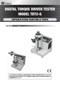 DIGITAL TORQUE DRIVER TESTER MODEL TDT2-G