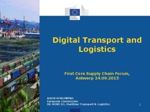 Digital Transport and Logistics
