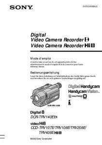Digital Video Camera Recorder Video Camera Recorder