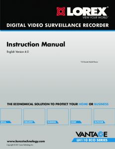 DIGITAL VIDEO SURVEILLANCE RECORDER