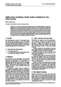 Digital wine marketing: Social media marketing for the wine industry