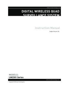 DIGITAL WIRELESS QUAD SURVEILLANCE SYSTEM
