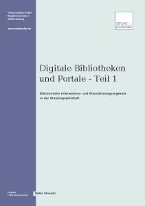 Digitale Bibliotheken und Portale - Teil 1