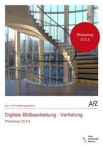 Digitale Bildbearbeitung - Vertiefung
