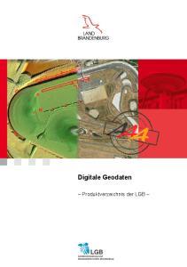 Digitale Geodaten. Produktverzeichnis der LGB
